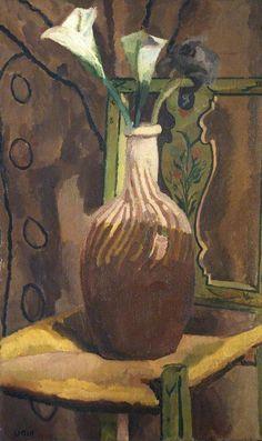 Vanessa Bell (UK, - Arum Lilies - 1919 - The Courtauld Gallery, London Vanessa Bell, Dora Carrington, Duncan Grant, Virginia Wolf, Bloomsbury Group, Post Impressionism, Chef D Oeuvre, Art Uk, Portraits