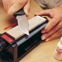 How to sharpen knives and scissors