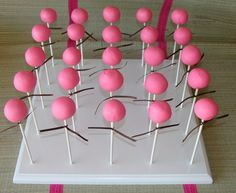 Cake Pop Stand.  I think I will try to make one of these!!!!