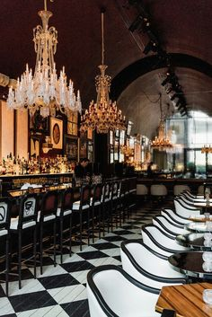 Baccarat Hotel, New York, Restaurant and Bar Lounge Restaurant Hotel, Architecture Restaurant, Restaurant Interior Design, Interior Design Tips, Restaurant Lighting, Restaurant Ideas, Amazing Architecture, Interior Ideas, Design Hotel