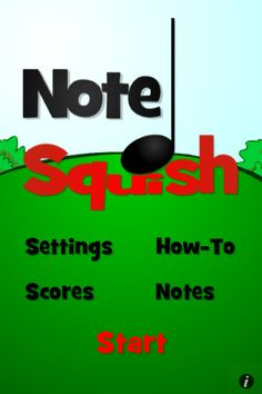 Note Squish is a fun game to learn notes.