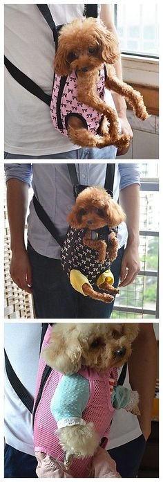 Front Backpack Bag Pet Carrier , after carrying a baby in the front became a fashion, here comes the pet time. #PetCarriers
