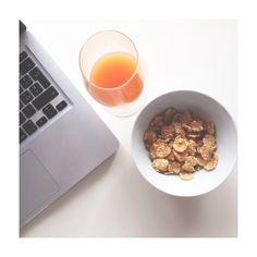 Fast #breakfast #juice #cereals #healty #healtfood #hwaltylife