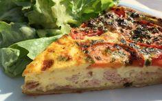 Quiche mit Schinken und Tomaten von cookingsociety.at Quiche, Breakfast, Food, Ham, Tomatoes, New Recipes, Kochen, Food Food, Meal