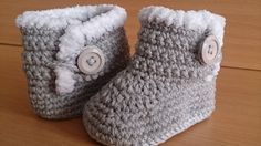 Baby Boots, Crochet Baby Boots, UGG Style Baby Boots