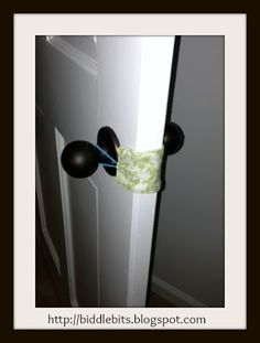 Biddle Bits: Door silencer for baby's nursery..not sure if this is needed but a good idea just incase it is?