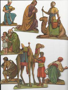 ÄLTERE PAPIER-KRIPPE- VERMUTLICH AUS AUSSCHNEIDEBOGEN- BESTEHEND AUS 29 TEILE | eBay