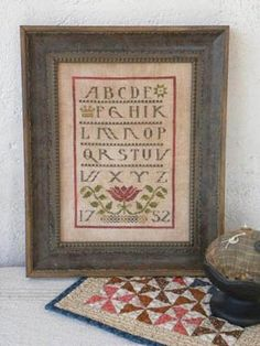 "From Threadwork Primitives is this cross stitch pattern titled ""Ann's Sampler""."