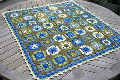Traditional Granny, free crochet afghan pattern by Lion Brand