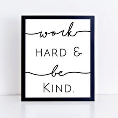 I'm working hard today even though I kiiiiinda just want to read my book (We're All Damaged by Matthew Norman did anyone else pick that for last month's Kindle First pick?) This printable is in the shop! I think it'd be great in a kid's room or classroom. #etsy #etsyshop #girlboss #workhard #bekind #printables #printableart #kidsroom