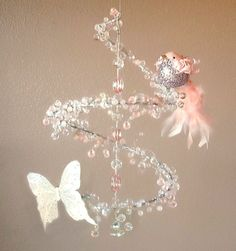 Pink Fairy Tale Crystal Mobile