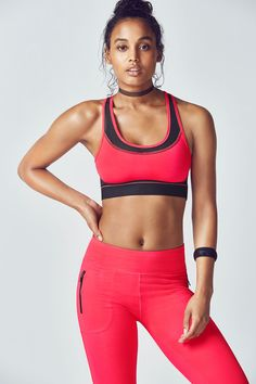 Our top-selling bra is back in the game with a new and improved look. Enjoy our logo-striped strap in back for an extra cool factor. It still offers the same power mesh and sweat-wicking technology that you loved before. Cute Workout Outfits, Back In The Game, Pink Sports Bra, Athletic Wear, Pink Ladies, Active Wear, Sportswear, Girl Clothing, Logo