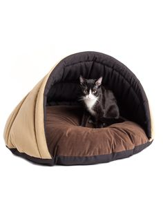 Olive Eskimo Tent Pet Bed #Pet #Beds #PetBeds