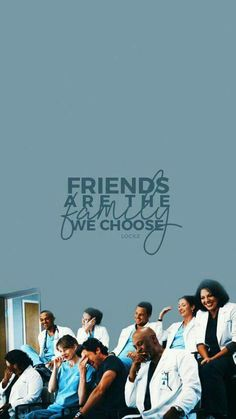 """""""Friends are the family we choice"""" Grey's Anatomy Greys Anatomy Funny, Greys Anatomy Cast, Grey Anatomy Quotes, Grey's Anatomy Wallpaper Quotes, Grey's Anatomy Wallpaper Iphone, White Eyeliner, Eyeliner Makeup, Winged Eyeliner, Greys Anatomy Characters"""
