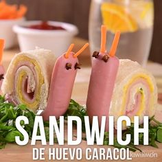 Video de Sándwich de Huevo Caracol Make this delicious and fun snail-shaped egg sandwich. Kids Cooking Recipes, Baby Food Recipes, Kids Meals, Cute Food, Good Food, Yummy Food, Food Art For Kids, Bento Recipes, Food Garnishes