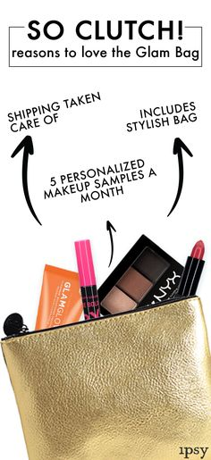 Look and feel like a rock star with our Glam Bag! The ipsy Glam Bag offers 5 handpicked beauty products from eye shadow, moisturizer, blush and more delivered to your door each month. Along with several beauty products, you receive product tutorials by expert beauty stylists and get 70% off exclusive beauty items. Join over 1.5M+ subscribers for your chance to win free products in contests and giveaways.