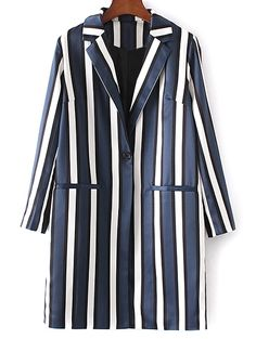 SHARE & Get it FREE   Striped Lapel Collar Long Sleeve CoatFor Fashion Lovers only:80,000+ Items • New Arrivals Daily Join Zaful: Get YOUR $50 NOW!