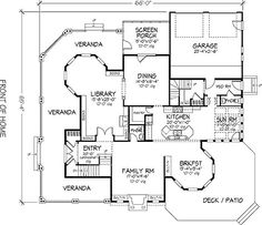 THIS IS MY DREAM HOUSE!!    This 4898 square feet country style 5 bedroom, 5 bath with 2 garage stalls falls in the 4000-5000 square feet range. It also combines elements from the victorian style.    The floor plan features teen suite/jack & jill bath, wrap around porch, upstairs master bdrm, storage area, peninsula/eating bar, friend's entry, master sitting area, walk-in pantry/cabinet pantry, library room, walk-in closet, side-entry garage, rear garage, screened porch/sunroom, family…