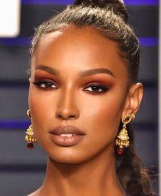 "Jasmine Tookes ""Sick in bed still dreaming of this glam♥️🤒 Flawless Makeup, Glam Makeup, Gorgeous Makeup, Bridal Makeup, Beauty Makeup, Hair Makeup, Hair Beauty, Eyeshadow Makeup, Makeup Tips"