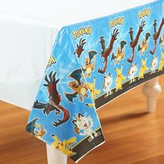 Pokemon Pikachu And Friends Plastic Tablecover - 137cm x 243cm