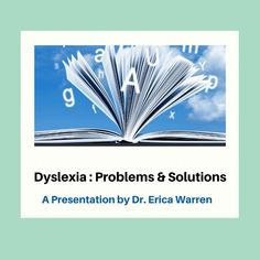 Dyslexia: Problems and Solutions Workshop – Good Sensory Learning: This is an edited recording of a live Zoom workshop, with Dr. Erica Warren. It is about 53 minutes and offers the full presentation. #dyslexiaworkshop #dyslexiacourse #whatisdyslexia Help Teaching, Teaching Resources, Teaching Ideas, Types Of Dyslexia, Memory Strategies, Twice Exceptional, Dysgraphia, Reading Specialist, Problem And Solution