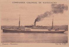 """Paquete """"Mouzinho"""", Companhia Colonial de Navegação (Portugal)"""