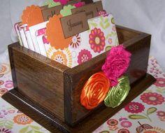Journal Box   Calendar Chart Bright Flowers Hot by peachykeenday, $40.00