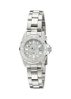 Women's Wrist Watches - Invicta Womens 7066 Signature Analog Display Swiss Quartz Silver Watch * Click on the image for additional details.