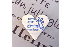 Handmade Ceramic Fridge Magnet - May all your dreams come true by Flower Tree Art & Ceramics