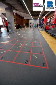 Neoflex 600 Series with Graphics Fitness Flooring @ Fitness First The Curve, Malaysia