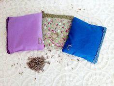 Cottage Cotton Lavender Pillows Sachet Favor Set of 3 With
