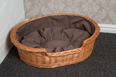 Small wicker cat bed #basket with #cushion free #delivery,  View more on the LINK: http://www.zeppy.io/product/gb/2/111283141295/
