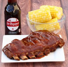 Easy Crockpot BBQ Coca-Cola Ribs Recipe! {Just 3 Ingredients}
