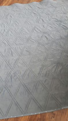 Minky backing, triangle quilt