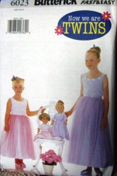 Butterick Fast & Easy Now We Are Twins Pattern No by Elliesstudio, $12.00