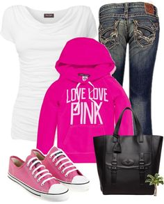 """""""Love Pink"""" by cindycook10 on Polyvore"""