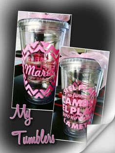 Vinyl gifts ideas  Tumblers