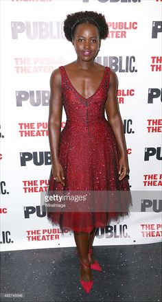 Lupita Nyong'o attends the Opening Night Celebration for 'Eclipsed' at the Public Theatre on October 14, 2015 in New York City.