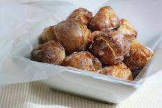 Old-Fashioned Sour Cream Donut Holes - hummingbird high    a desserts and baking blog