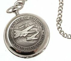 Pocket watch - Solid pewter fronted mechanical skeleton pocket watch - Battle of Britain design 53 AEW. $99.00