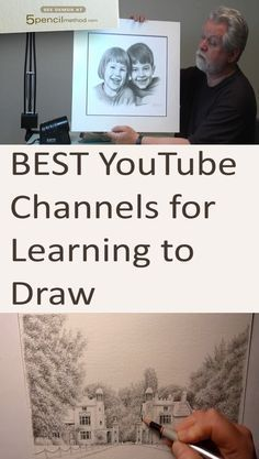 How to draw with pencils. YouTube recommended channels for learning to draw. Pencil drawing tutorials, guide and lessons for beginners and advanced artists.