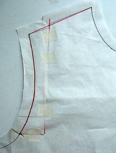 Narrow Shoulder Alteration  9 Shoulder seam by annrowley, via Flickr