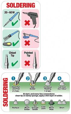 The Basics Of Soldering Explained [Infographic] & Lifehacker Australia The Basics Of Soldering Explained [Infographic] & Lifehacker Australia The post The Basics Of Soldering Explained [Infographic] Electronic Circuit Projects, Electronic Engineering, Electrical Engineering, General Engineering, Mechanical Engineering, Electronics Components, Electronics Gadgets, Electronics Projects, Geek Gadgets