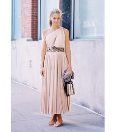 @Who What Wear - Get The Look: Calypso Jersey Linen Lace Up Maxi Dress ($209)