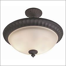 Is this too fancy for our kitchen?  Craftmade 3-Lt Semi Flush Mount oiled Bronze - X416-OB
