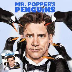 JIM CARREY Mr. Popper's PENGUINS; Digital Portrait; realistic drawing ;drawing by Ciocan Dumitru Jim Carrey, Digital Portrait, Realistic Drawings, Drawing Drawing, Penguins, Movies, Movie Posters, Portraits, Art