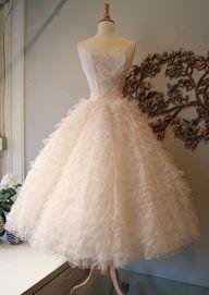 1950's #Ballerina #Wedding #Dress
