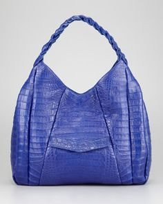 Braided-Strap Crocodile Hobo, Nancy Gonzalez. If I had a bottomless checking account, you would be mine.