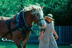 Jane with her horse.
