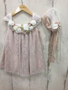 ρομαντικό-vintage-φορεματάκι-βάπτισης